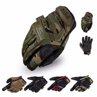 Leadingtrust Mechanix Wear M-Pact Military Tactical Army HuntingFull Finger Cycling Gloves - intl