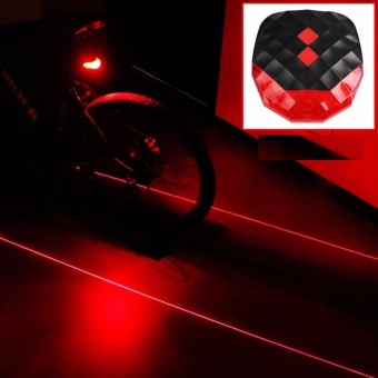 LED Bicycle Bike Rear Tail Light Taillight Laser Beam RED Price Philippines