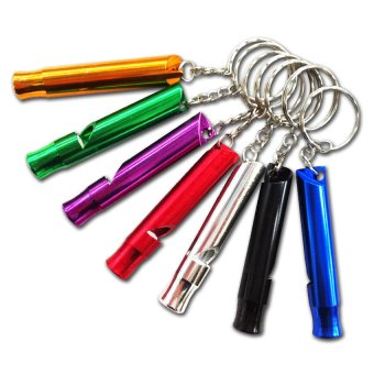 Life Whistle Emergency Whistle Set of 10 (Multicolor)