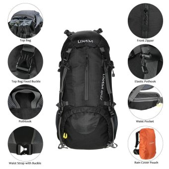 Lixada 50L Water Resistant Outdoor Sport Hiking Camping Travel Backpack Pack Mountaineering Climbing Backpacking Trekking Bag Knapsack with Rain Cover - intl