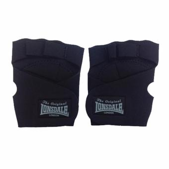 LONSDALE NEOPRENE WEIGHTLIFTING TRAINING GLOVES (BLACK)