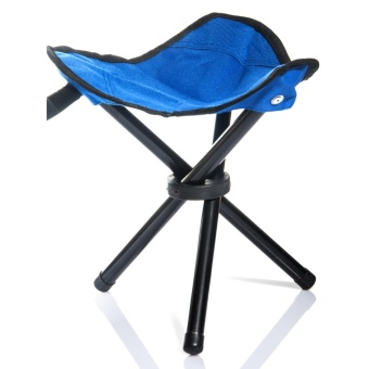 Lychee Outdoor Three-Legged Foldable Folding Stool Camping BeachFishing Chair Garden Seat Small Travelling Stool - intl