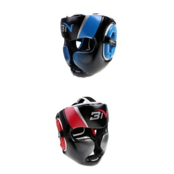 MagiDeal 2pcs Head Guard MMA Training Muay Thai Kick Boxing HelmetProtector Gear - intl