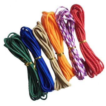 MagiDeal 6 Pieces 550lb Paracord Parachute Cord for Outdoor 7 Strands 5 Meters #3 - intl Price Philippines