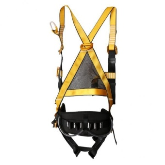 MagiDeal Heavy Duty Full Body 5 Point Safety Harness Rock Climbing Fall Arrest Gear - intl