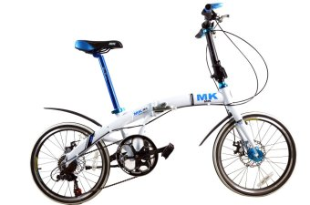 Mars Kingdom M2-20 Mantis Folding Bike (White)