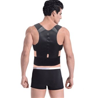 Medical Orthosis Posture Correction Shoulder Brace Sport CorsetBack Brace Magnetic Posture Upper Back Support Corrector - intl Price Philippines