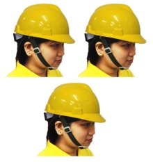 Meisons Safety Helmet Hard Hat PE Vguard (Yellow) Set of 3 Philippines