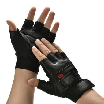 Men Weight Lifting Gym Exercise Training Sport Fitness Sports Car Leather Gloves