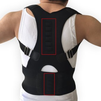 Men's Posture Corrector Orthopedic Posture Corset Back Support BeltBack Brace Support Men Back Straightener Round Shoulder ,Black -intl