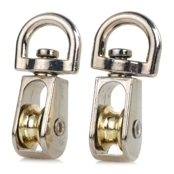 Metal Fixed Pulley Set of 2