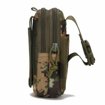 Military fans tactical pockets bag outdoor sports tactical belt pockets pocket wear purse 5.6-inch mobile phone bag Oxford Bag - intl - 2