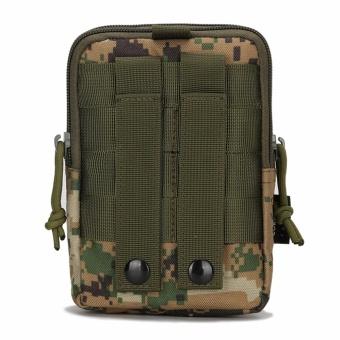 Military fans tactical pockets bag outdoor sports tactical belt pockets pocket wear purse 5.6-inch mobile phone bag Oxford Bag - intl - 3