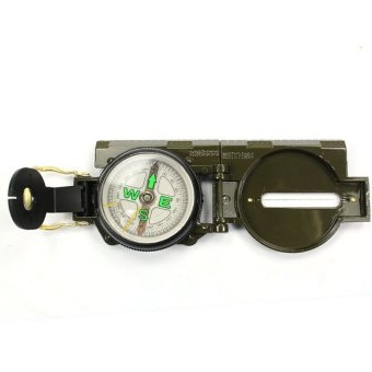 Military Style Magnetic Lensatic Compass #0001 (Army Green)