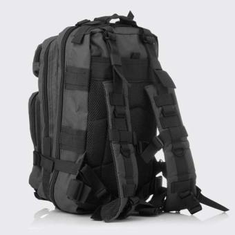 Military Tactical Backpack Small Rucksacks Hiking Bag OutdoorTrekking Camping Tactical Molle Pack Men Tactical Combat Travel Bag20-35L Black - intl - 3