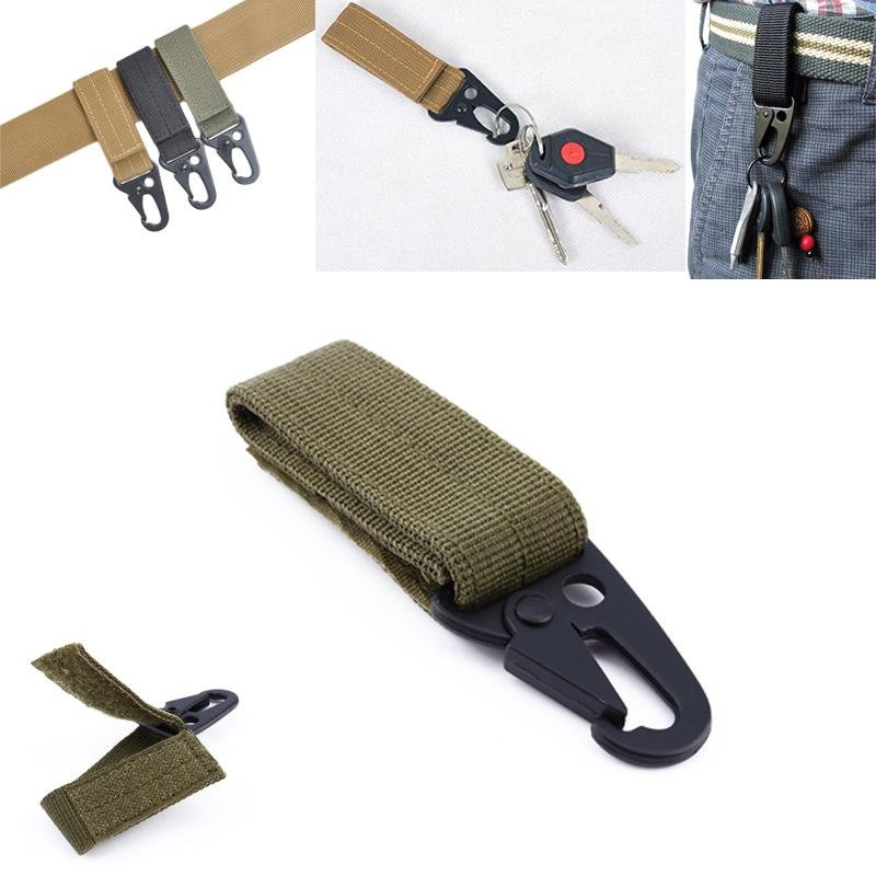 ... Molle nylon belt clip webbing backpack strap backpack Quickdraw Carabiner camp tactical travel bag kit gear ...