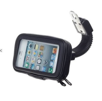 Motorcycle Bicycle Water Resistant Holder / Stand for GPS / CellPhone - Black