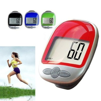 Multi-function Step Pedometer Large LCD Display Pedometer Walking Step Counter Calorie Calculator Distance - intl