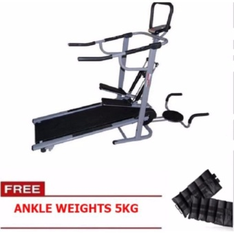Muscle Power 8022 4-in-1 Magnetic Manual Treadmill FREE 5KG ANKLEWEIGHTS