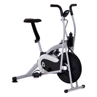 Muscle Power Air Bike with Hand Pulse (Grey)