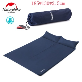 Naturehike NH Outdoor Double Automatic Inflatable Sleeping Pad Moistureproof Camping Hiking Mat Nylon TPU Mattress With Pillow - intl