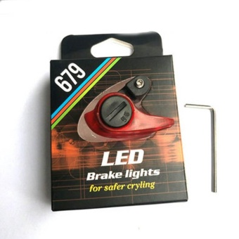 New Electric Bicycle Bike LED Brake Light Lamp CantileverAccessories - intl