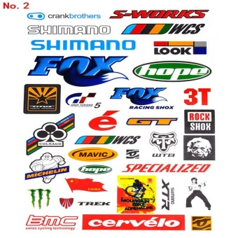 New Mountain Bike Bicycle Cycling Sticker Skateboard DecalDecoration Scratching Sticker Random Pattern - intl - 4