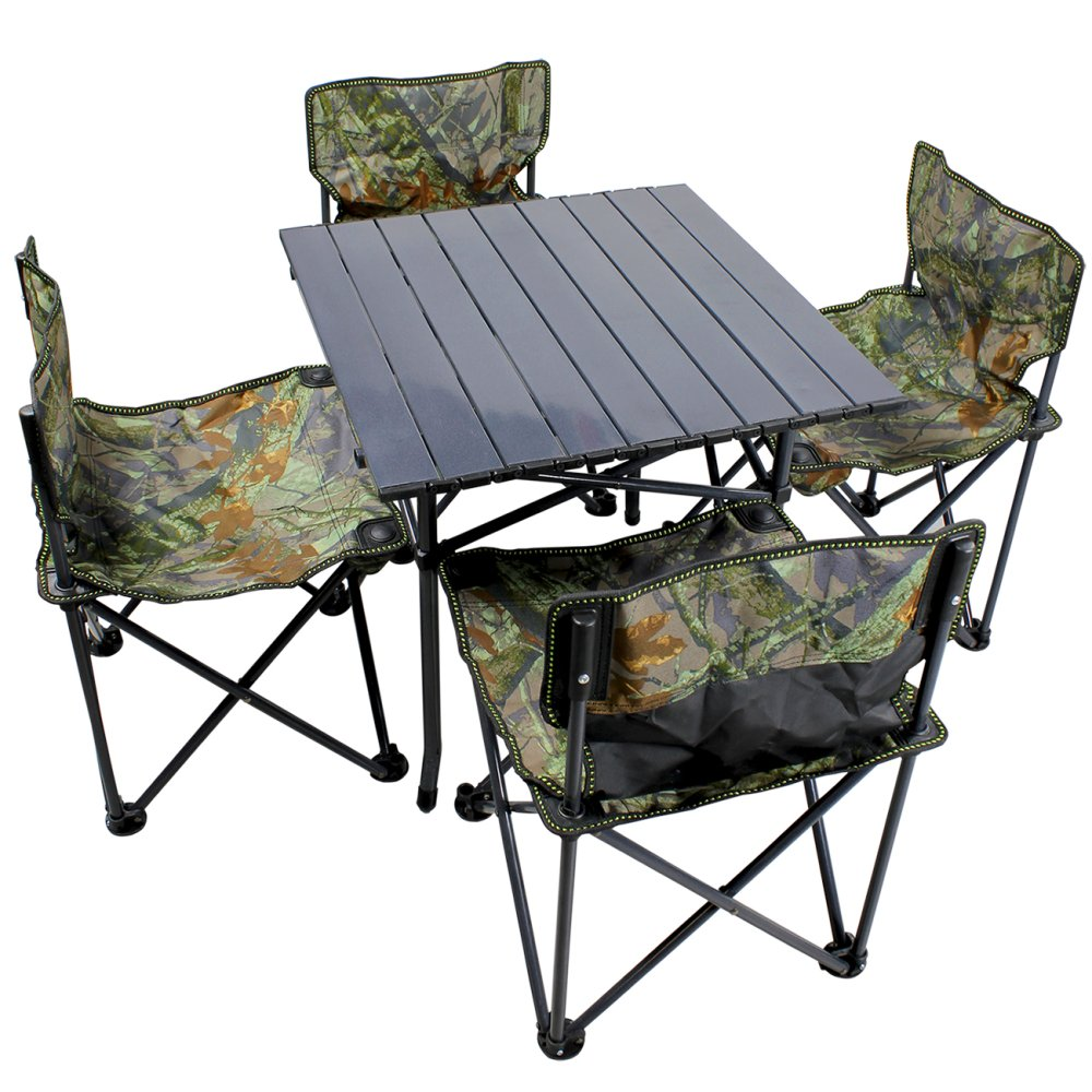 New Portable Folding Outdoor Dining Table And Chair Set (Camoulage) |  Lazada PH