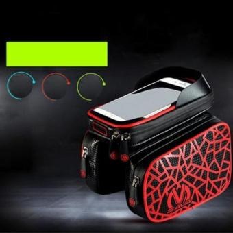 New Waterproof Mountain Bike Bicycle Bag (Printed - Red)