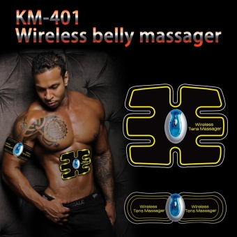 New Wireless Electric Massager EMS Abdominal Training Device TENS Unit Electrotherapy Back Pain Relief ABS Fit Muscle Stimulator - intl - 3