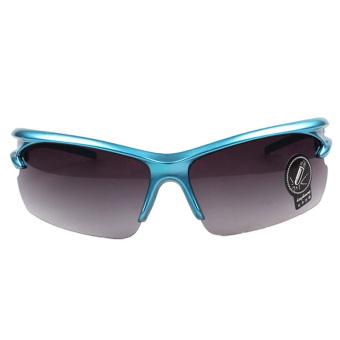 Night-Vision Goggles Sports Sunglasses Polarized Glasses Riding Mirror (Blue)
