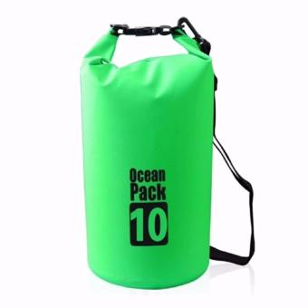 Ocean Pack Portable Barrel-Shaped Waterproof Dry Bag 10L(green)