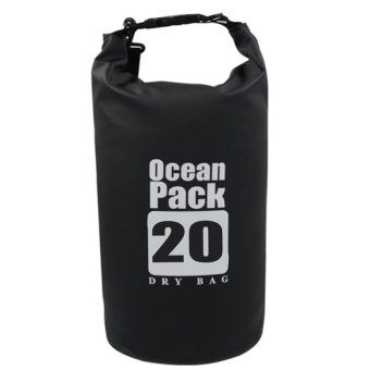 Ocean Pack Portable Barrel-Shaped Waterproof Dry Bag 20L (Black) Price Philippines