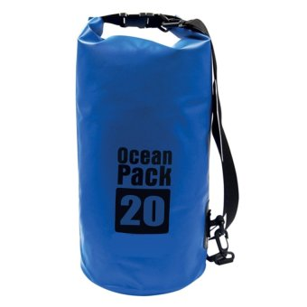 Ocean Pack Portable Barrel-Shaped Waterproof Dry Bag 20L (Blue) Price Philippines