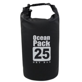Ocean Pack Portable Barrel-Shaped Waterproof Dry Bag 25L (Black) Price Philippines