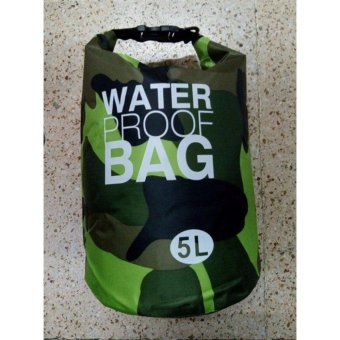Ocean Pack Waterproof Dry Bag Camouflage 5L(GREEN)