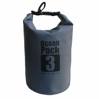 Ocean Pack Waterproof Floating Dry Bag 3L ideal for Outdoor Sports(Gray) Price Philippines