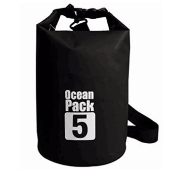 Ocean Pack Waterproof Floating Dry Bag 5L ideal for Outdoor Sports(Black)