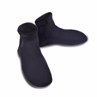 Ocean Thickening 3 mm non-slip warm To keep warm diving Leg warmers(Black) - intl Price Philippines