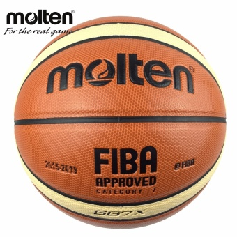 Offical Size 7 Molten GG7X Basketball PU Leather Basketball BallOutdoor Indoor Training Ballon Free With Mesh + Needle - intl