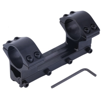 OH 1'' Integrated Dual Ring Round Top Dovetail Torch Scope Mount 11mm Rail Black