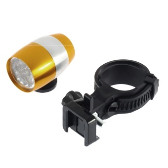 OH 6 LED Cycling Bicycle Head Front Flash Light Warning Lamp Safety Waterproof gold