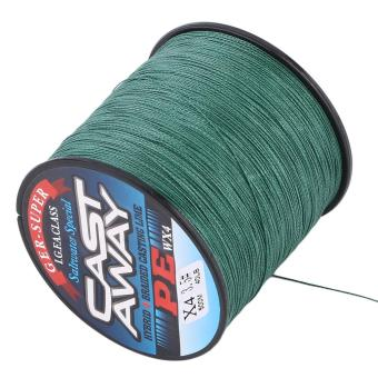 OH High Quality 500M PE 4 Strand Strong Strength Braid Fishing Line Army Green