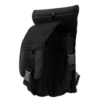 OH Outdoor Tactical Military Drop Leg Bag Panel Utility Waist Belt Pouch Bag Black