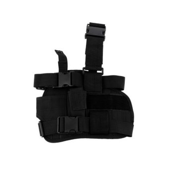 OH Practical Airsoft Military Tactical Drop Leg Thigh Holster Pouch Black - Intl