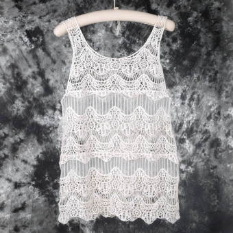 OH Women Lace Crochet Sleeveless Swimwear Bikini Cover Up BeachHollow out Dress