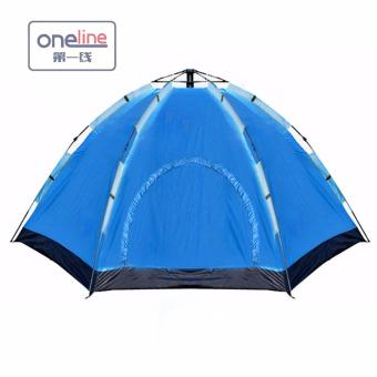 Oneline B-HL-8878C Person Automatic Family Camping Tent (Blue)