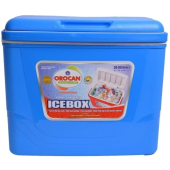 Orocan Ice Box Chest Insulated Cooler 30-Liters (Blue)