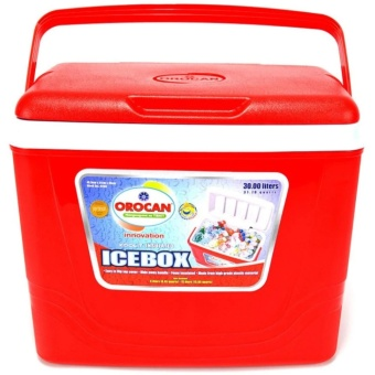 Orocan Ice Box Chest Insulated Cooler 30-Liters (Red)