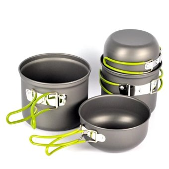 Outdoor Camping Cookware Cookset 4pcs Set 2-3 Person